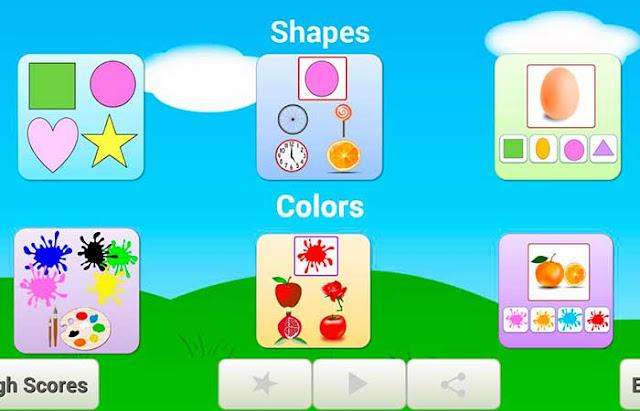 colors & shapes juegos