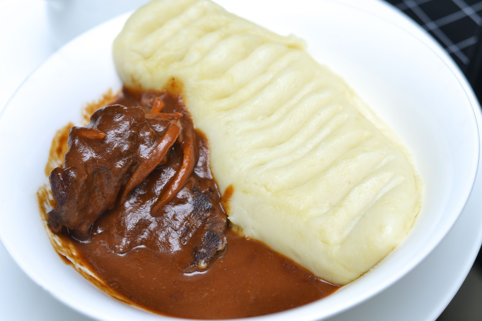 Braised Beef and Mash Potato in Lagos