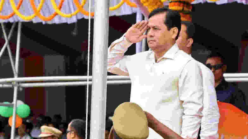 Assam CM Sarbananda Sonowal CM hosts national flag at Judges Field