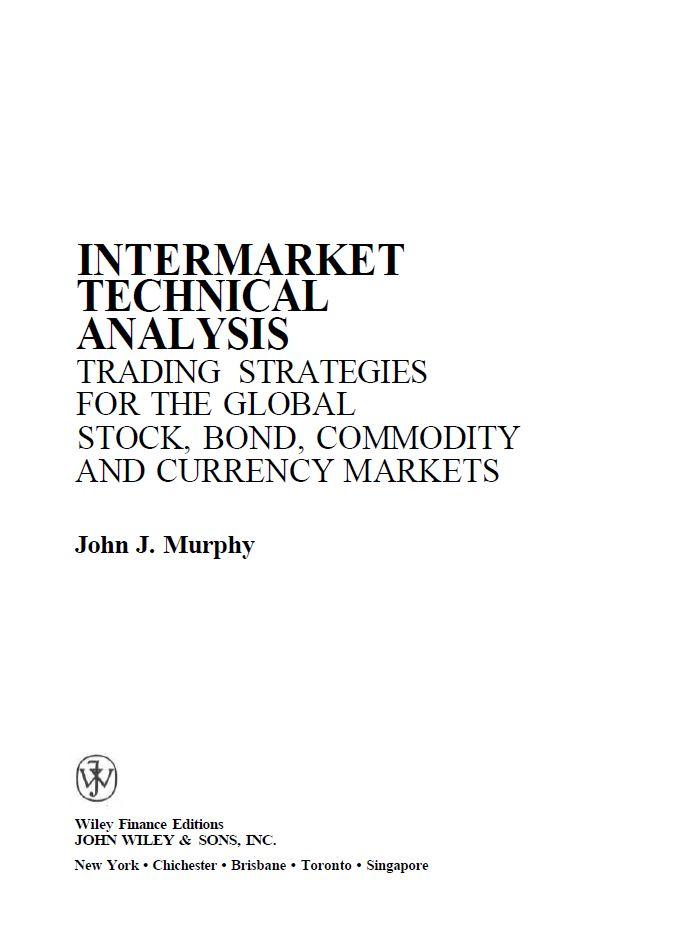 John J Murphy Intermarket Technical Analysis Pdf Algorithmic
