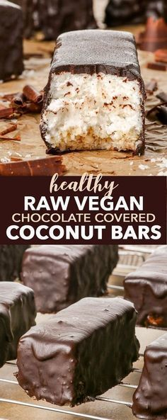 Raw Vegan Chocolate Covered Coconut Bars