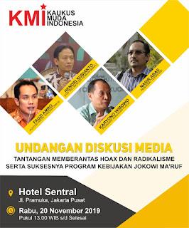 Bersama Insan Media, KMI Adakan Diskusi Tantangan Memberantas Hoax dan Radikalisme Pada Pemerintahan Jilid 2 Jokowi