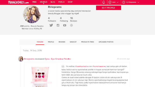 review makeup ala beauty blogger di female daily