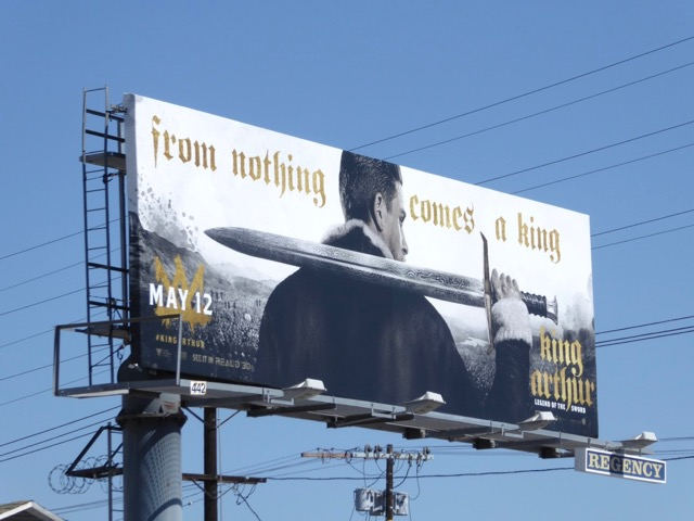 King Arthur Legend of Sword billboard