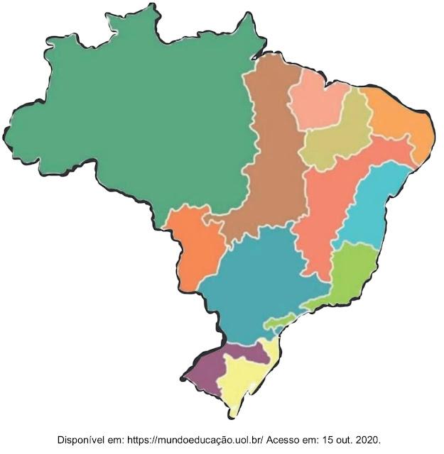 Examinando o mapa do território brasileiro a seguir na escala considerada e correlacionando os elementos cartográficos nele contidos, como podemos designá-lo?