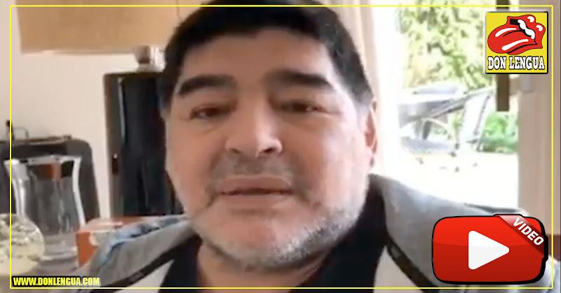 """Maradona asegura que no tiene alzhéimer ya que esa """"es una enfermedad mortal"""""""