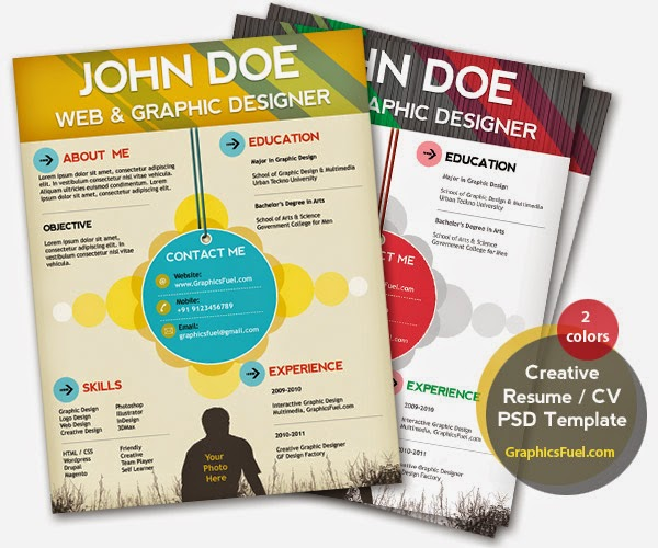 Free Resume Download Creative Resume Cv Psd Template Cmyk Print
