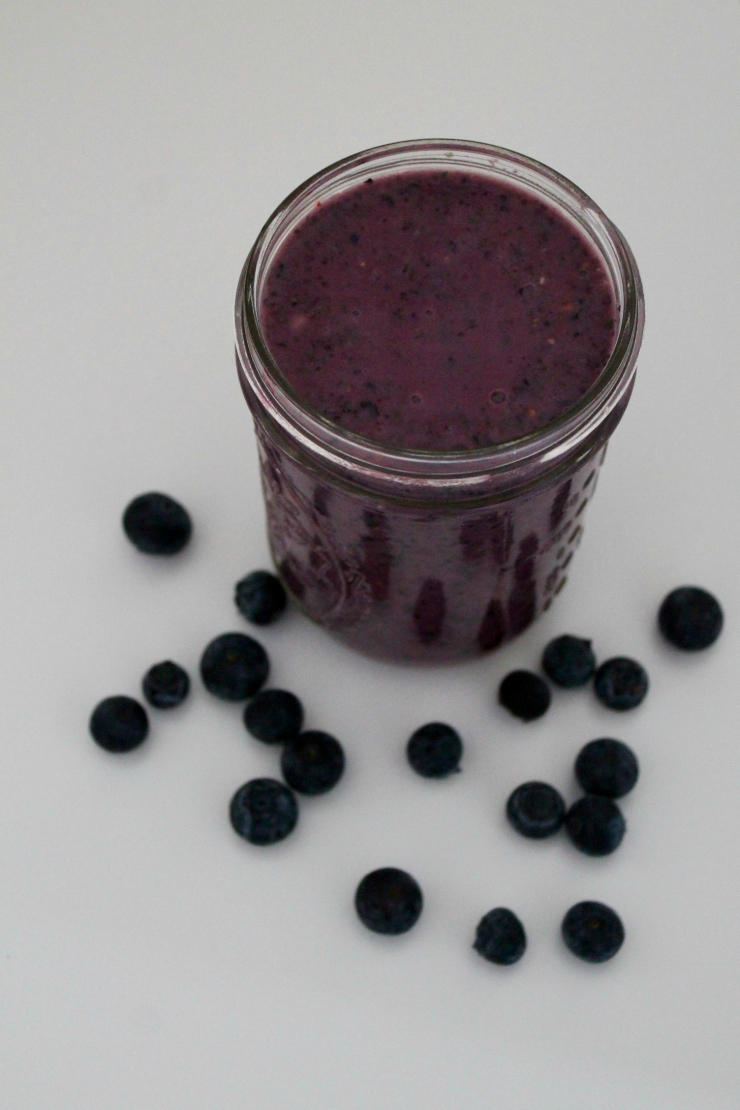 [Easy Recipes] Blueberry Ginger Smoothie (vegan friendly)