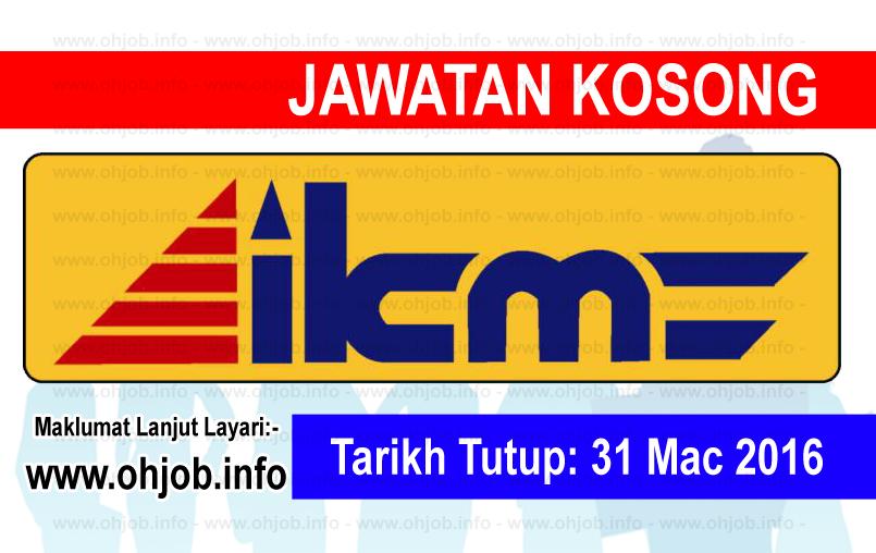 Jawatan Kerja Kosong Institut Kemahiran MARA (IKM) logo www.ohjob.info mac 2016