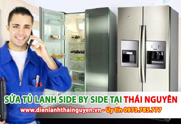 Sửa tủ lạnh side by side tại nhà Thái Nguyên