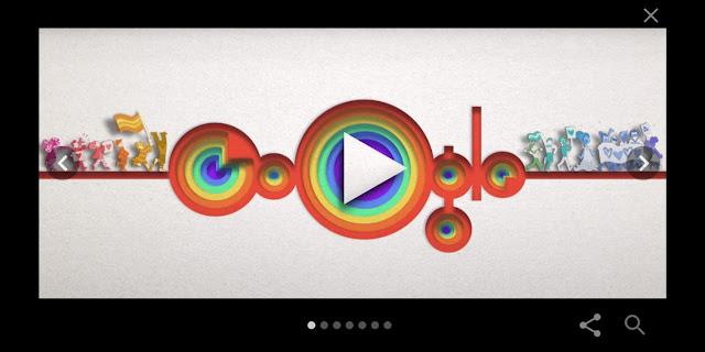 Celebrating Pride Google Doodle Created by Google for LGBTQ + Pride.