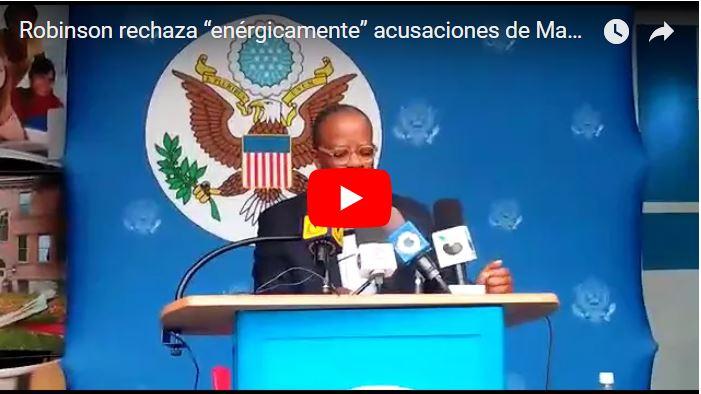 Declaraciones de Todd Robinson tras expulsión de Venezuela