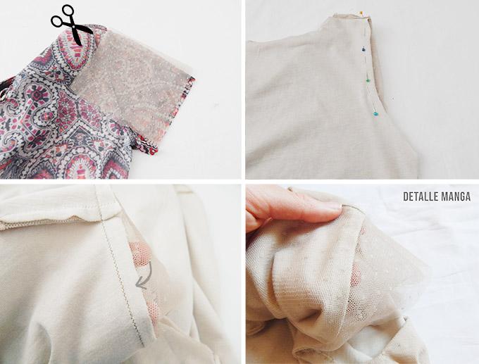 miscelánea diy: DIY | Blusa de tull con plumeti y corte peplum