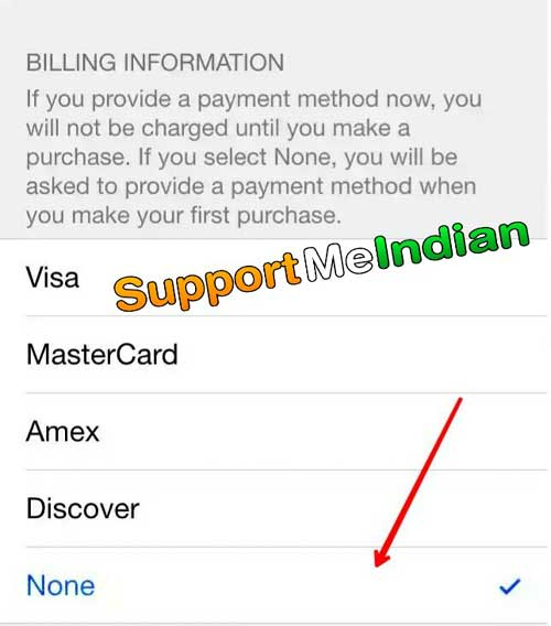 apple id  without credit or debit card