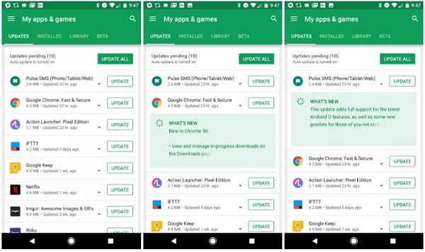 تحديث متجر بلاي 8.0 بميزة جديدة Google PlayStore Update Version With New Features