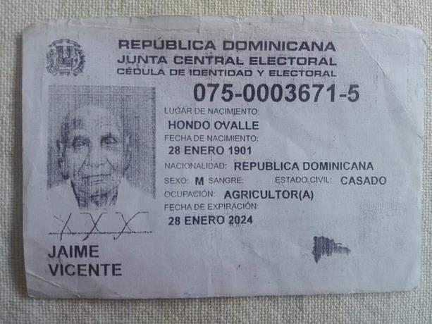 Muere el hombre más viejo de República Dominicana