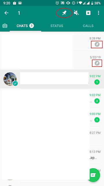 Fitur Pin Chat Whatsapp