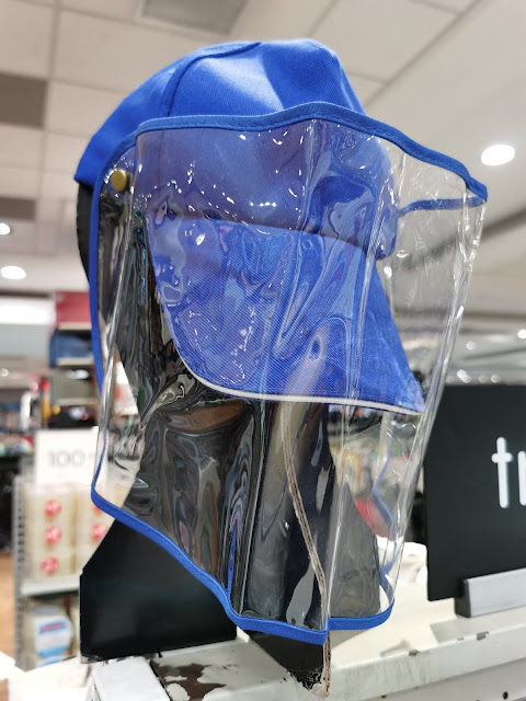 face shield and face mask at SM