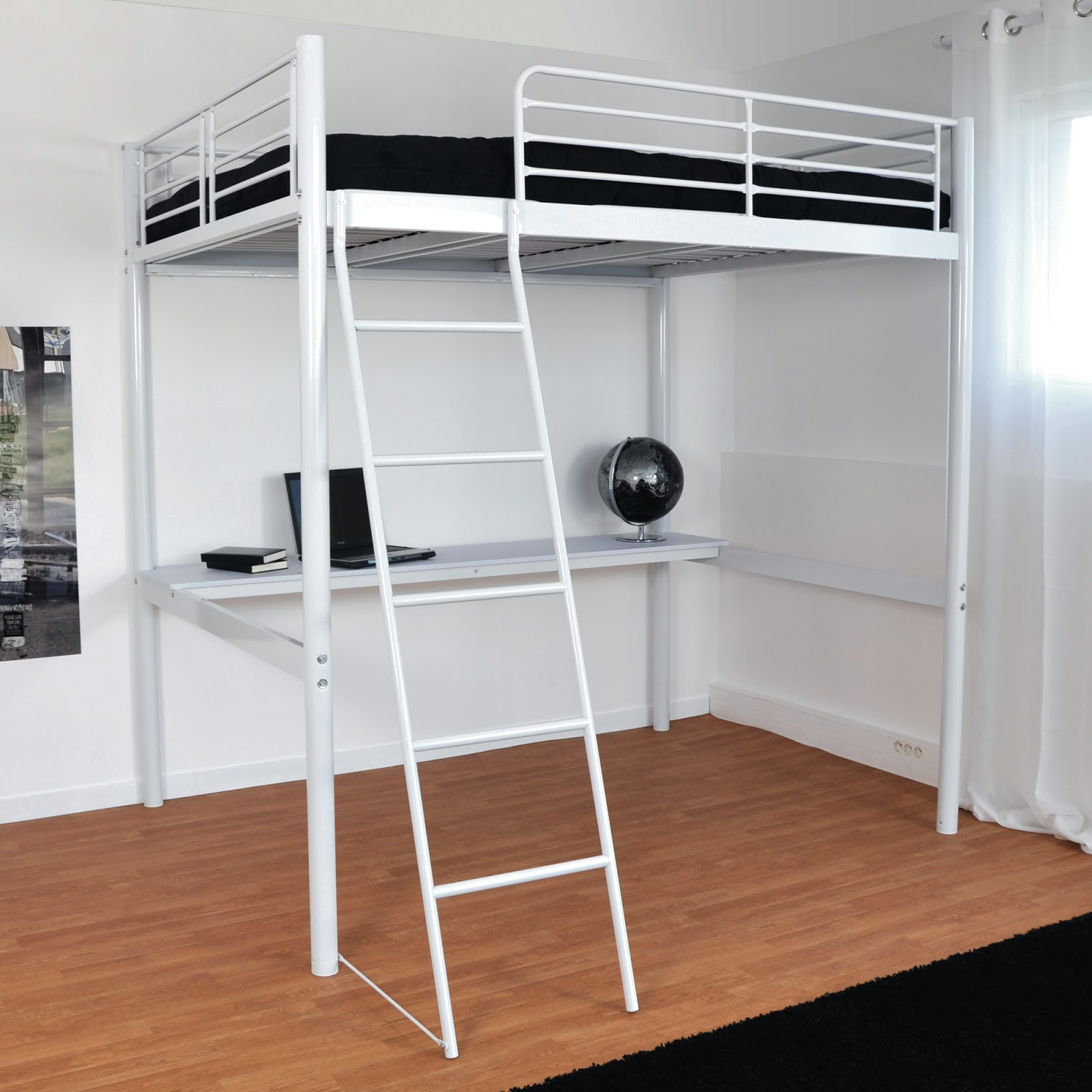 photos lit mezzanince 2 places lit mezzanine 2 places info. Black Bedroom Furniture Sets. Home Design Ideas