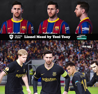PES 2021 Faces Lionel Messi by Toni Tony