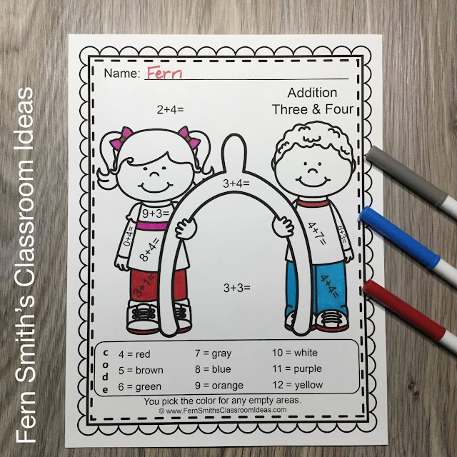 Getting students to review their addition, subtraction, multiplication, and division basic facts can be challenging! You will love the no prep, print and go ease of these Thanksgiving Color By Number Addition, Subtraction, Multiplication, and Division Printable Worksheets Resource BUNDLE.