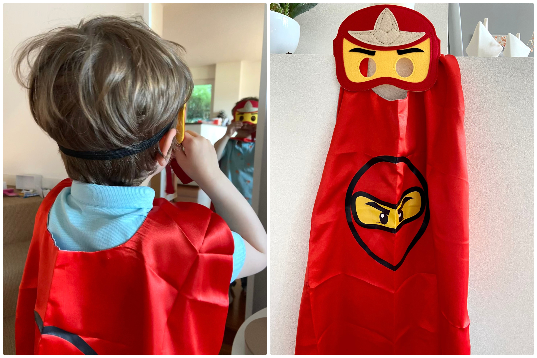 ninjago party lego super hero κάπα μάσκα νίντζα δώρο πάρτυ