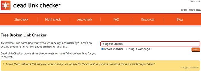 Cek Broken Link Pada Blog Website Dead Link Checker