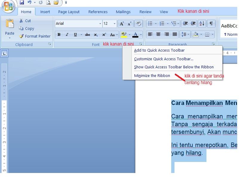Cara Menampilkan Menu Toolbar MS Word yang Hilang - Berbagi dalam ...