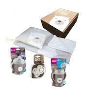 Logo Vinci gratis BOX firmato LOVI con tazza antigoccia, copertina, succhietti e cuscino