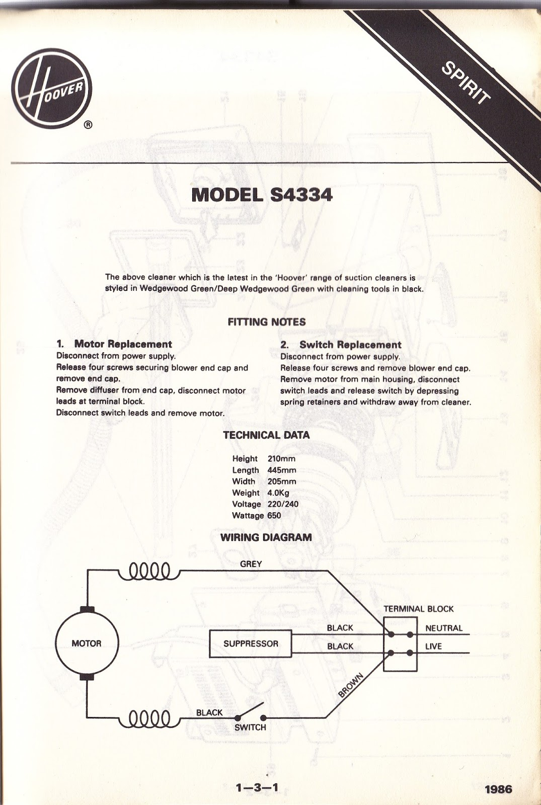 IMG hoover service manual 1987 henry hoover switch wiring diagram at crackthecode.co