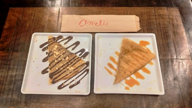 Sobremesas do Amélie Crêperie et Bistrot