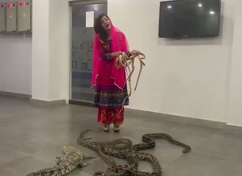 PAKISTANI SINGER THREATENS PM MODI WITH WITH SNAKES; VIDEO GOES VIRAL