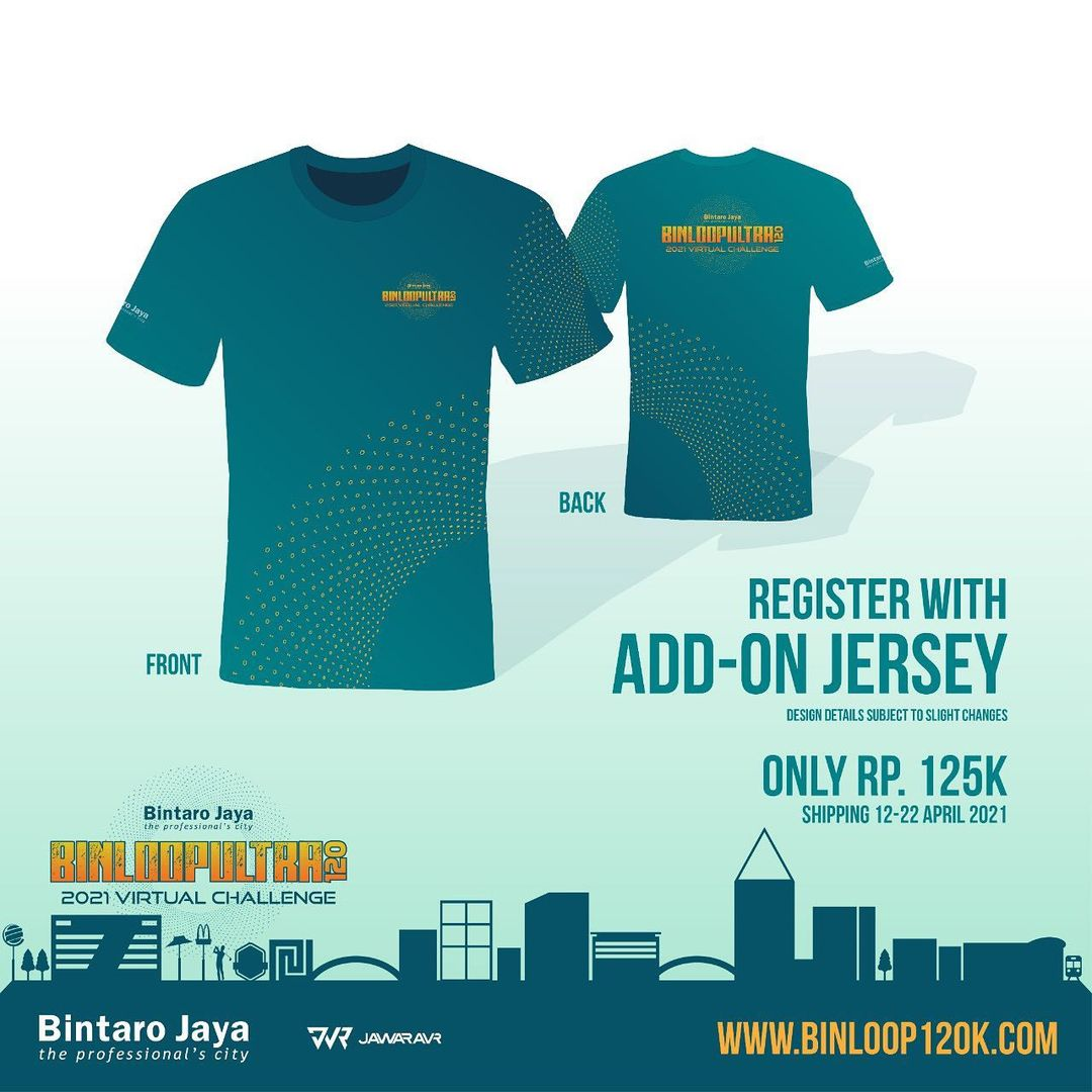 Jersey 👕 BinLoop Ultra 120K Virtual Challenge • 2021