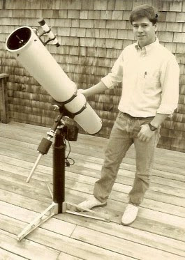"Mike Petrasko and his 6"" f/8 Newtonian used to spot SN1989b on 02/11/1989"