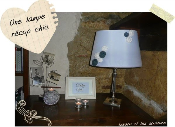 lissou et les couleurs des fleurs en tissu pour habiller un abat jour. Black Bedroom Furniture Sets. Home Design Ideas