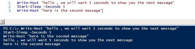 Pause (sleep) a PowerShell (PowerCLI) script | IT Professional