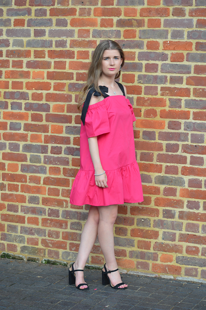 ASOS pink dress fashion bloggers