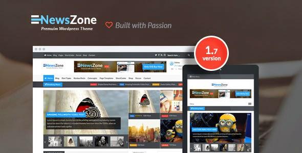 NewsZone - Responsive & Retina WordPress
