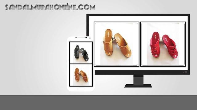 Sepatu Sandal Wedges WDN Wanita Bogor