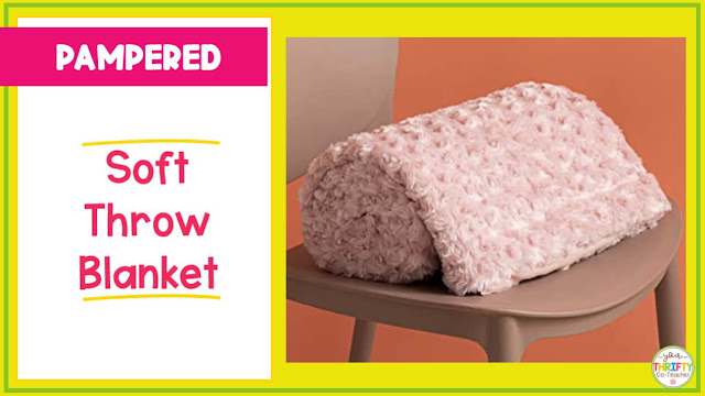 Help the teacher relax by giving her this blanket as a gift.