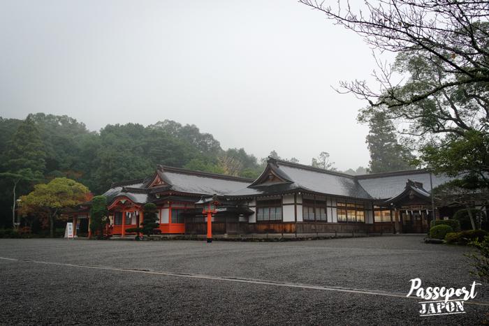 Grande cour centrale, sanctuaire Usa-jingû, Oita