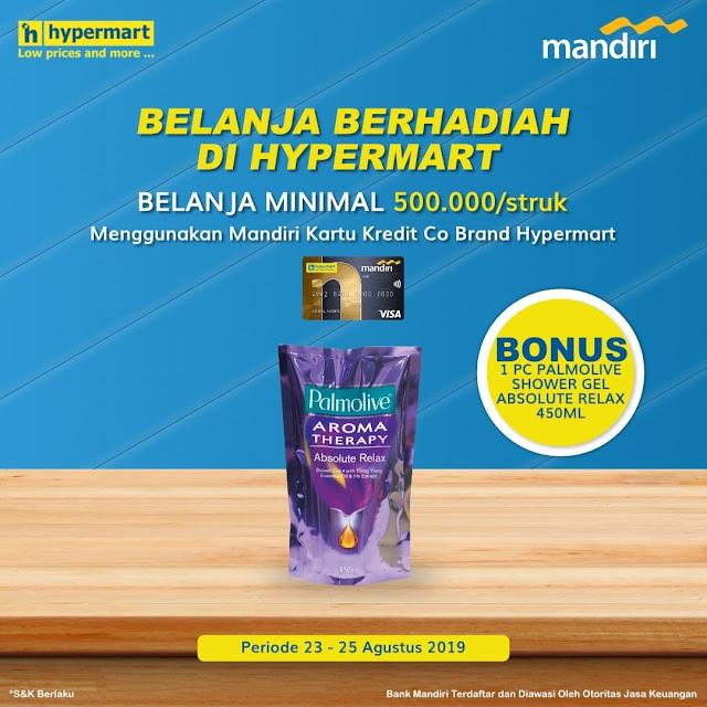 #Hypermart - #Promo Hadiah Belanja Min 500K Pakai CC Mandiri Hypermart (s.d 25 Agustus 2019)