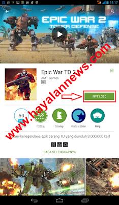 Mau game gratis yang di jual di play store...? ikuti cara ini...!!!