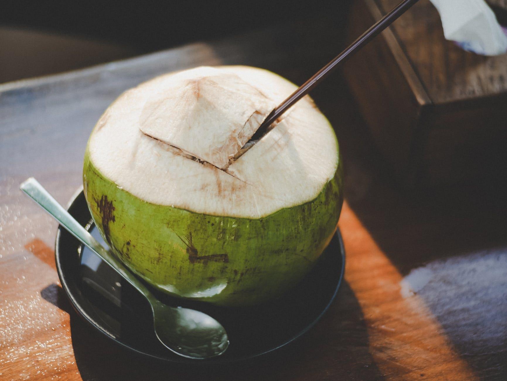 Method of action of fresh coconut juice