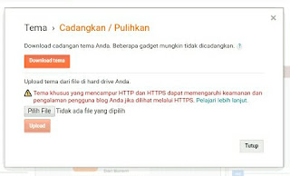 Mengganti Template Bawaan Blogspot Dari Download