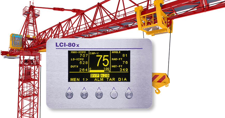 Safe Load Indicator : New lci crane safe load indicator from rugged controls