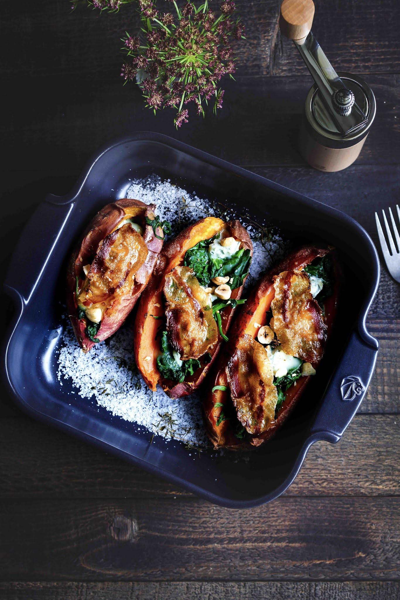gorgonzole, patate douce, cuisine au four , recette reconfortante