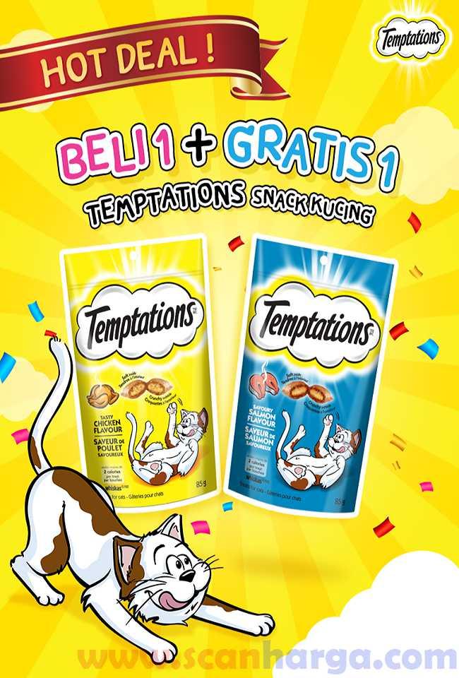 Harga Promo Temptations Hot Deal Beli 1 Gratis 1 Edisi Juni - Juli 2020
