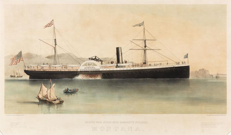 Panama Mail Steam Ship Company Cruise Line MAP circa 1928 New York San Francisco