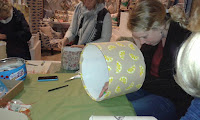 Drum Lampshade making workshop with Jenny Sibthorp